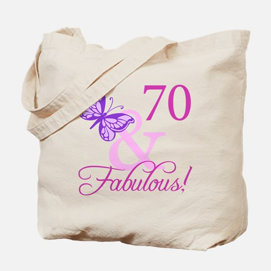 70 & Fabulous (Plumb) Tote Bag