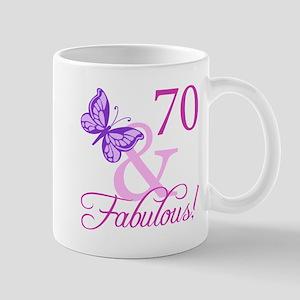 70 & Fabulous (Plumb) Mug