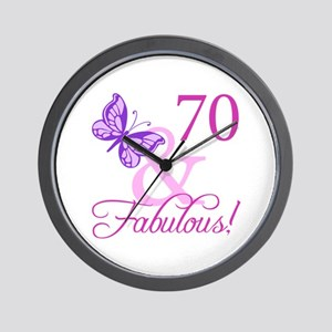 70 & Fabulous (Plumb) Wall Clock