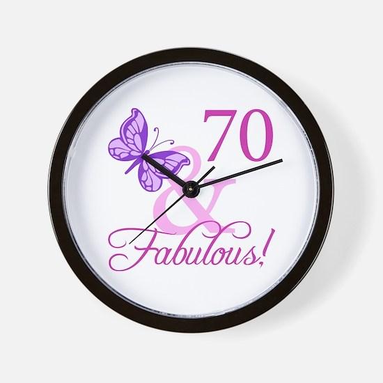 70 & Fabulous (Plumb) Wall Clock
