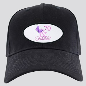 70 & Fabulous (Plumb) Black Cap