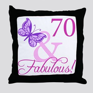 70 & Fabulous (Plumb) Throw Pillow