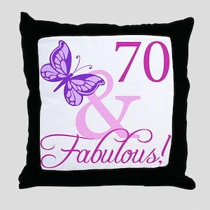 70 & Fabulous (Plumb) Throw Pillow