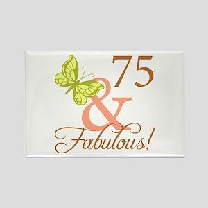 75 & Fabulous (Autumn) Rectangle Magnet