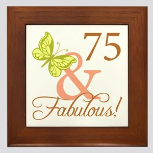75 & Fabulous (Autumn) Framed Tile