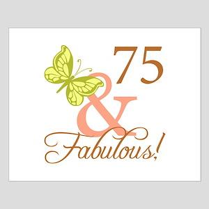 75 & Fabulous (Autumn) Small Poster