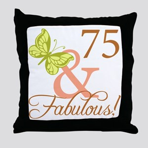 75 & Fabulous (Autumn) Throw Pillow