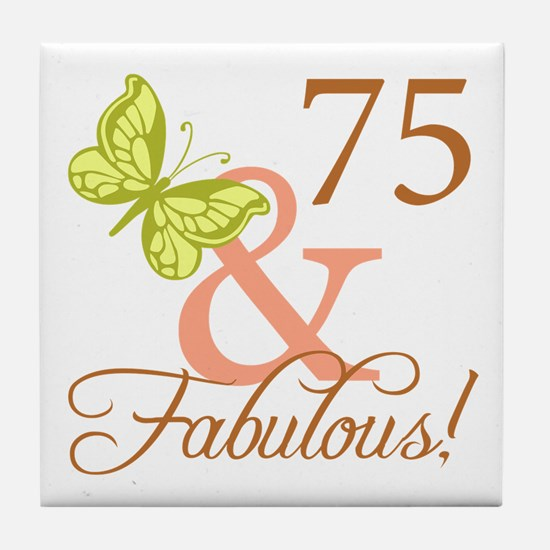 75 & Fabulous (Autumn) Tile Coaster