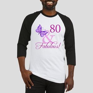 80 & Fabulous (Plumb) Baseball Jersey