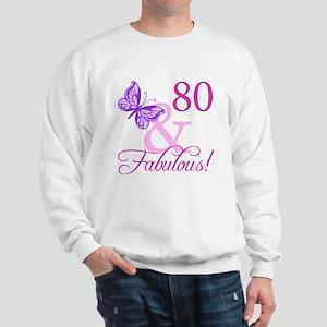 80 & Fabulous (Plumb) Sweatshirt