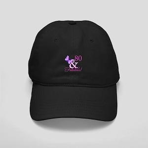 80 & Fabulous (Plumb) Black Cap