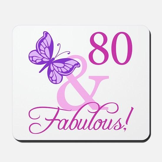 80 & Fabulous (Plumb) Mousepad