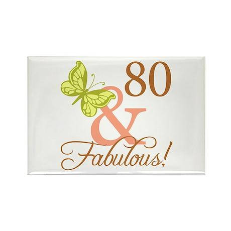 80 & Fabulous (Autumn) Rectangle Magnet