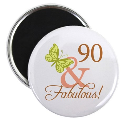"90 & Fabulous (Autumn) 2.25"" Magnet (10 pack)"