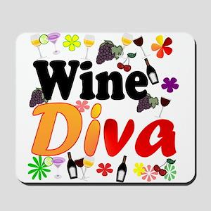 Wine Diva (Orange Flowers) Mousepad