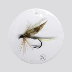 Cummins Wet Fly (March Brown) Ornament (Round)