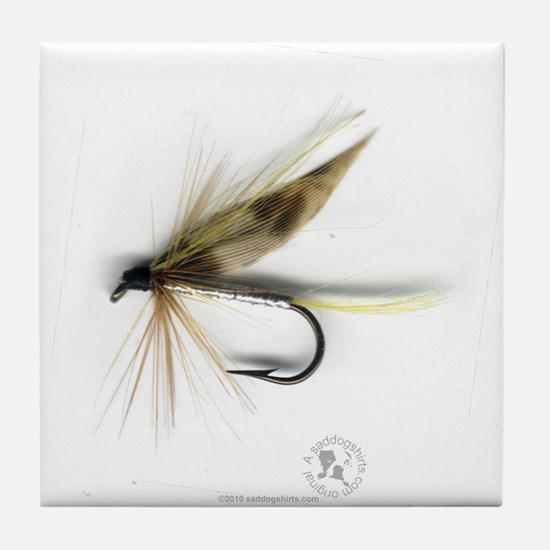 Cummins Wet Fly (March Brown) Tile Coaster