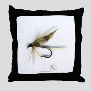 Cummins Wet Fly (March Brown) Throw Pillow