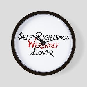 Self Righteous Werewolf Lover Wall Clock