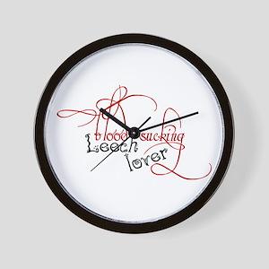 Blood sucking leech lover Wall Clock