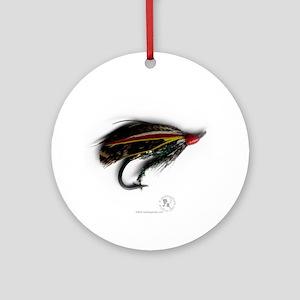 English Salmon Fly Ornament (Round)