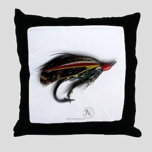 English Salmon Fly Throw Pillow