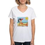 I'm a Shore Thing Women's V-Neck T-Shirt