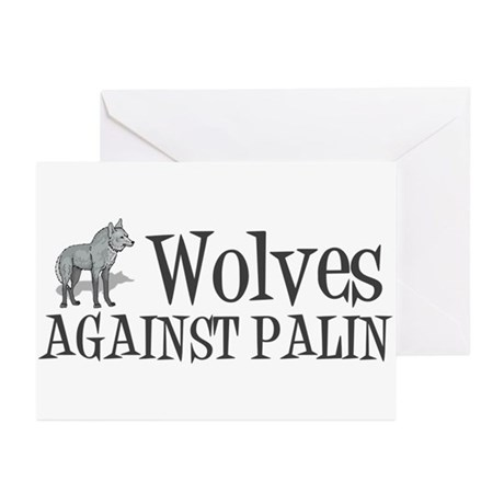Wolves Against Palin Greeting Cards (Pk of 20)