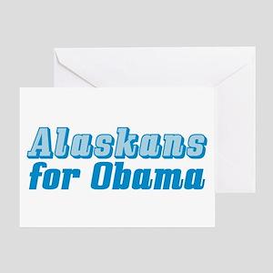 Alaskans for Obama Greeting Card