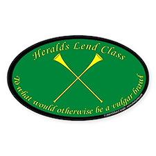 Heralds lend Class Sticker (Oval)
