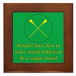 Heralds lend Class Framed Tile