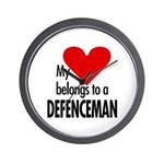 My heart, defenceman Wall Clock