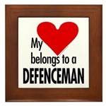 My heart, defenceman Framed Tile
