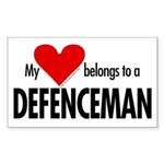 My heart, defenceman Rectangle Sticker