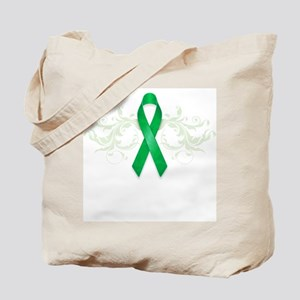 Green Ribbon Tote Bag