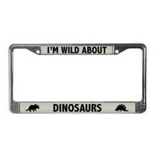 Wild About Dinosaurs License Plate Frame