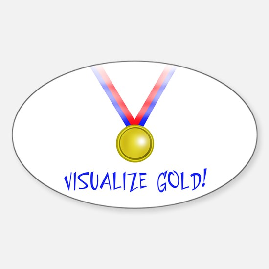 Visualize Gold Oval Decal