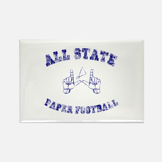 All State Paper Football Rectangle Magnet