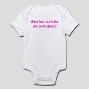 Too Cute Baby Girl pink Infant Bodysuit