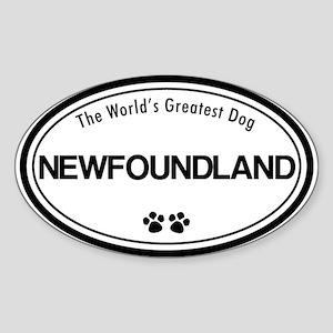 World's Greatest Newfoundland Oval Sticker