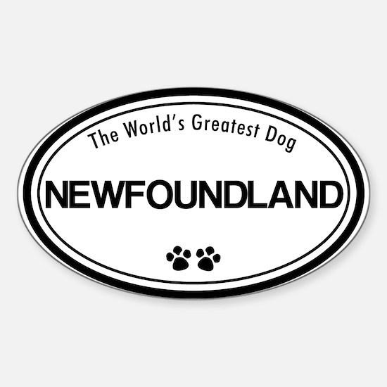 World's Greatest Newfoundland Oval Decal