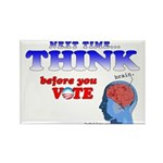 Next Time, THINK Rectangle Magnet (100 pack)