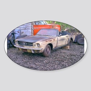 1966 Mustang Conv. Sticker (Oval)