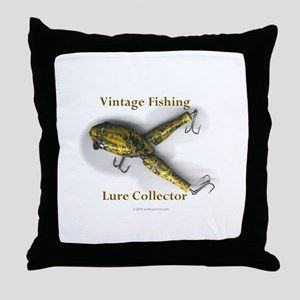 Vintage Lure Collector Throw Pillow