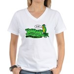 Tommy the Insulting Parrot Lo Women's V-Neck T-Shi