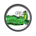 Tommy the Insulting Parrot Lo Wall Clock