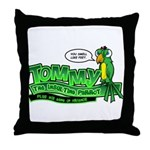 Tommy the Insulting Parrot Lo Throw Pillow