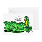 Tommy the Insulting Parrot Lo Greeting Card