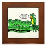 Tommy the Insulting Parrot Lo Framed Tile