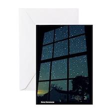 Dark Sky Window Greeting Card